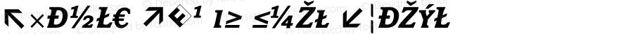 Avance Exp SC Bold Italic 004.301
