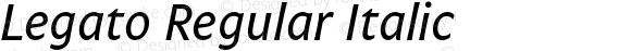 Legato Regular Italic