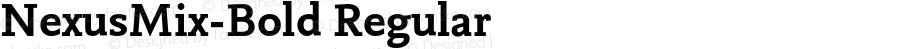 NexusMix-Bold Regular 4.460