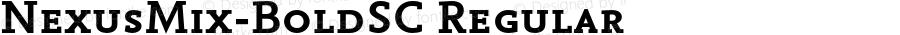NexusMix-BoldSC Regular 4.460