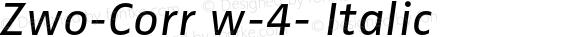 Zwo-Corr w-4- Italic 004.453
