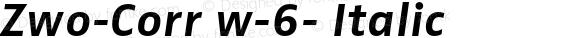 Zwo-Corr w-6- Italic 004.453