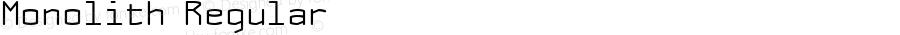 Monolith Regular Macromedia Fontographer 4.1.5 03‐02‐21