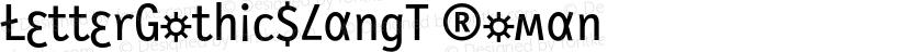 LetterGothicSlangT Roman Preview Image