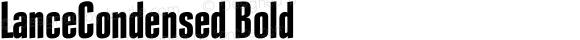 LanceCondensed Bold 001.000
