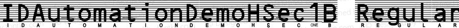 IDAutomationDemoHSec1B Regular Version 7.002 2007