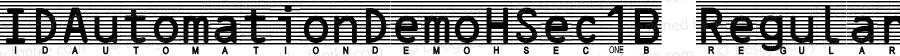 IDAutomationDemoHSec1B Regular Version 7.200;PS 007.002;hotconv 1.0.38