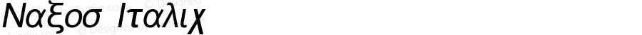 Naxos Italic 1.0 Fri Sep 15 09:55:24 1995