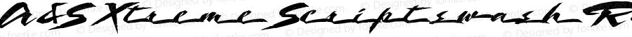 A&S Xtreme Script swash Regular 1.0     www.signfonts.com