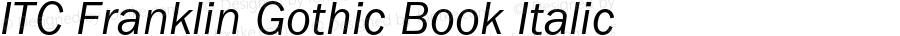 ITC Franklin Gothic Book Italic OTF 1.0;PS 001.000;Core 1.0.22