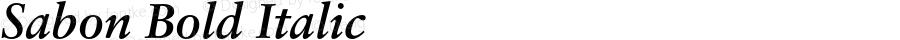 Sabon Bold Italic OTF 1.0;PS 001.000;Core 1.0.22