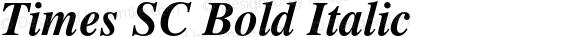 Times SC Bold Italic OTF 1.0;PS 001.000;Core 1.0.22