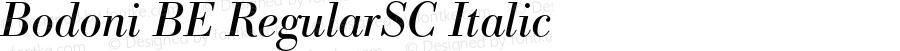Bodoni BE RegularSC Italic OTF 1.0;PS 001.002;Core 1.0.22