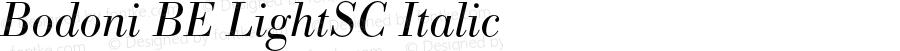 Bodoni BE LightSC Italic OTF 1.0;PS 001.002;Core 1.0.22