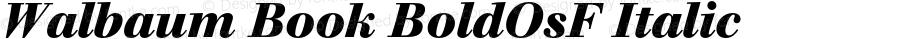 Walbaum Book BoldOsF Italic OTF 1.0;PS 001.001;Core 1.0.22