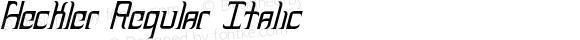 Heckler Regular Italic