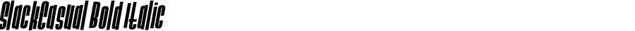 SlackCasual Bold Italic 001.000