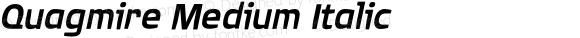 Quagmire Medium Italic 001.000