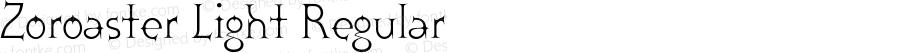 Zoroaster Light Regular 001.001