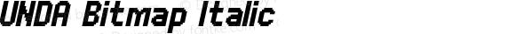 UNDA Bitmap Italic 001.000