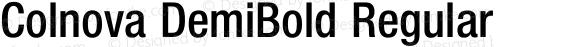 Colnova DemiBold Regular 001.000