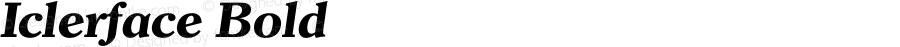 Iclerface Bold 001.000