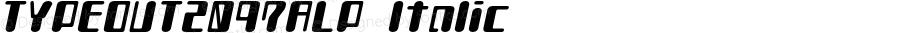 TYPEOUT2097ALP-Italic