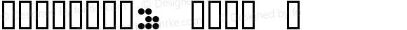 CIRCULAR9 KANA J Macromedia Fontographer 4.1.3 1998.03.17