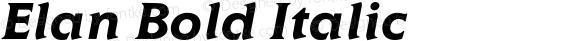 Elan Bold Italic 001.000