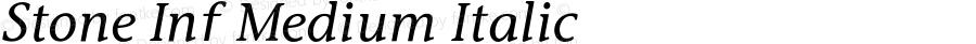 Stone Inf Medium Italic 001.000