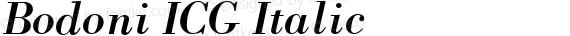 Bodoni ICG Italic preview image
