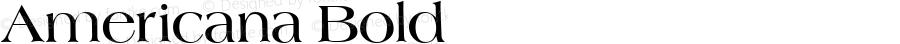 Americana Bold Altsys Fontographer 3.5  10/29/92