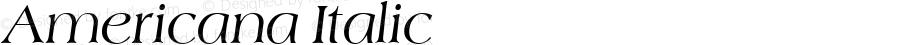 Americana Italic Altsys Fontographer 3.5  10/29/92