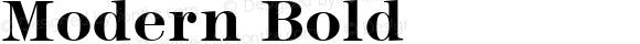 Modern Bold Altsys Fontographer 3.5  11/24/92
