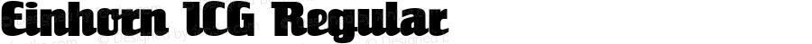 Einhorn ICG Regular Altsys Fontographer 4.1 18/09/95