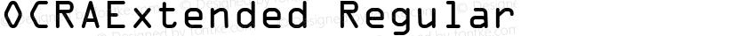OCRAExtended Regular Preview Image