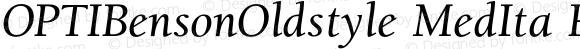 OPTIBensonOldstyle MedIta Regular 001.000