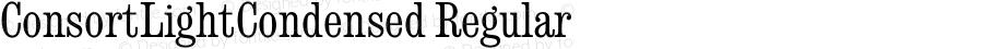 ConsortLightCondensed Regular September 6, 1993 v1.0