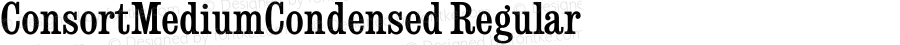 ConsortMediumCondensed Regular September 6, 1993 v1.0