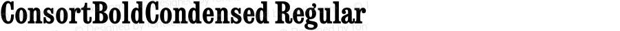 ConsortBoldCondensed Regular September 6, 1993 v1.0