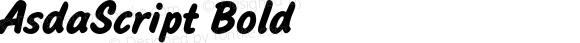 AsdaScript Bold 001.000