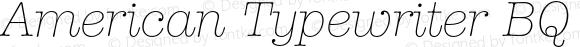 American Typewriter BQ Regular 001.000