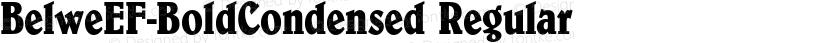 BelweEF-BoldCondensed Regular Preview Image