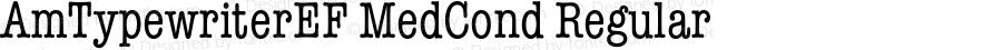 AmTypewriterEF MedCond Regular 001.001