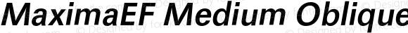 MaximaEF Medium Oblique