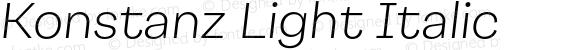 Konstanz Light Italic