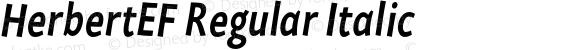 HerbertEF Regular Italic