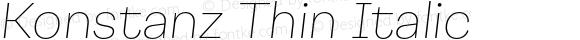 Konstanz Thin Italic