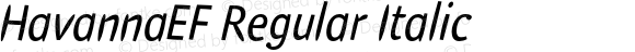 HavannaEF Regular Italic