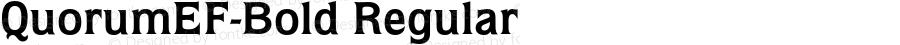 QuorumEF-Bold Regular 001.001